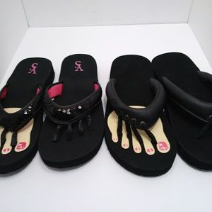 ORIGINAL YOGA SANDAL LOT OF 2 WOMENS SHOE SIZE XL